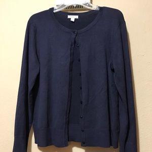 Navy sweater by Charter Club